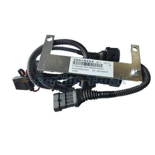 Weichai engine spare parts electromagnetic fan clutch harness 612600061659