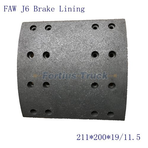 FAW J6 Spare parts Front brake lining B