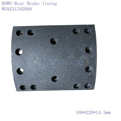 Rear Brake lining WG9231342068 WG9231342069 for Sinotruk Parts
