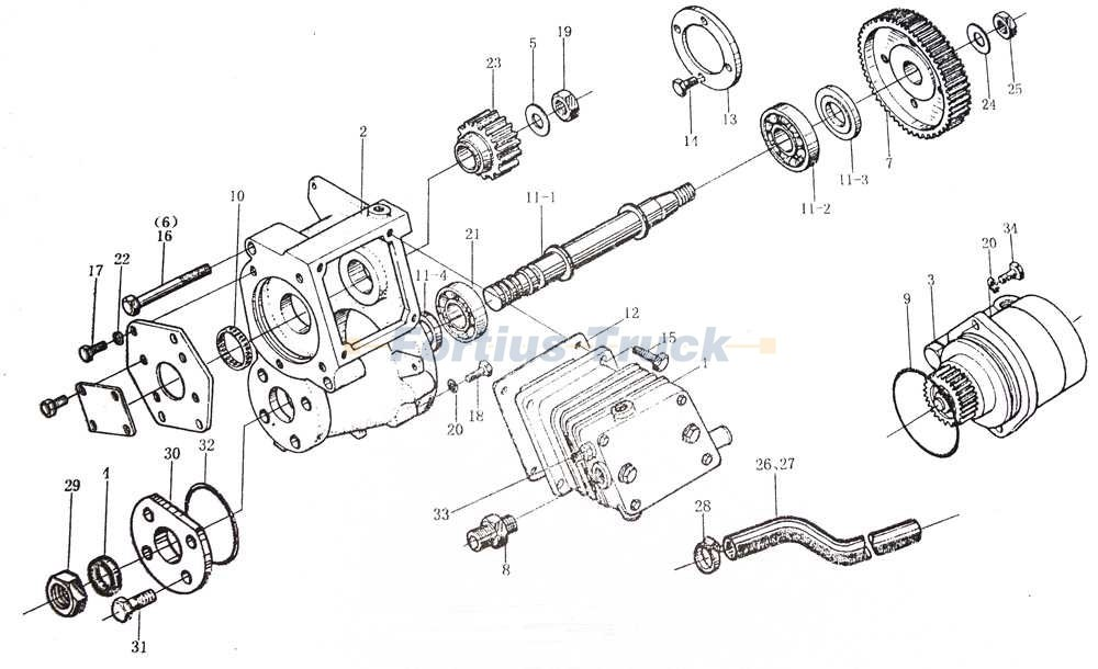 HOWO ENGINE PARTS WD615 AIR COMPRESSOR CATALOG